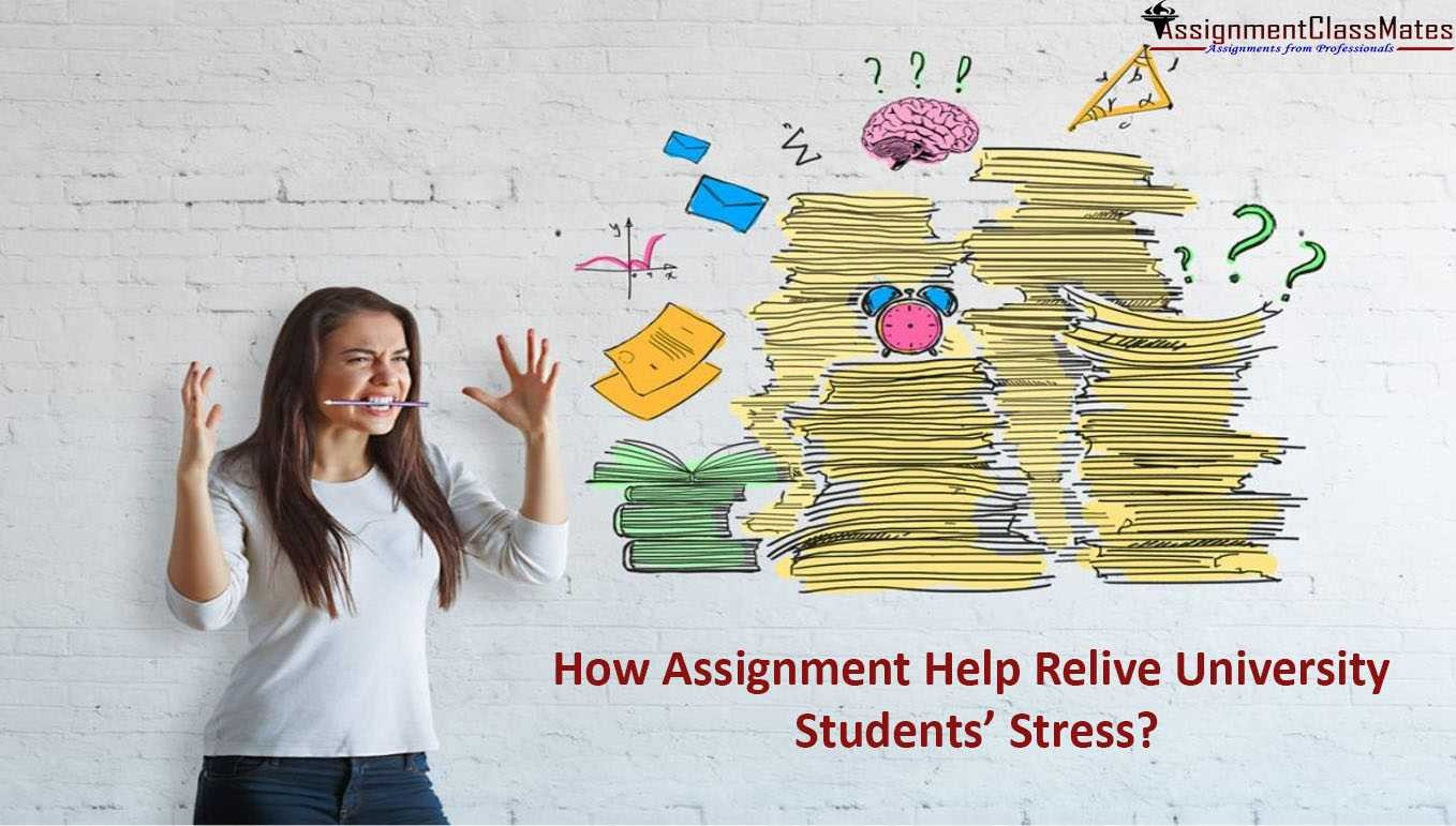 How Assignment Help Relive University Students` stress